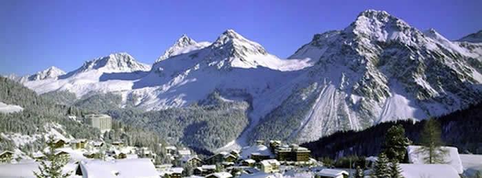 Graubünden in Zwitserland wintersport