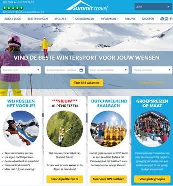website van Summit Travel