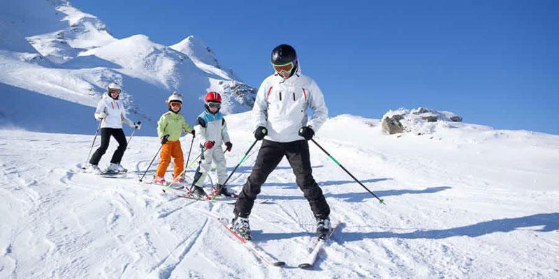 Wintersport kinderen Frankrijk
