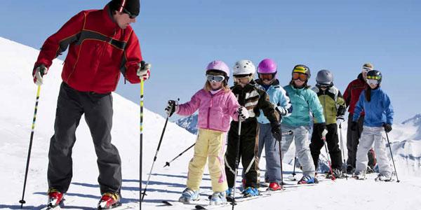 Wintersport kleine kinderen