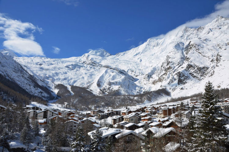 Wintersport in Saas-Fee
