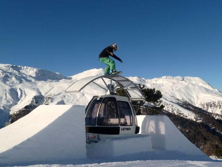 Wintersport in Reschenpass